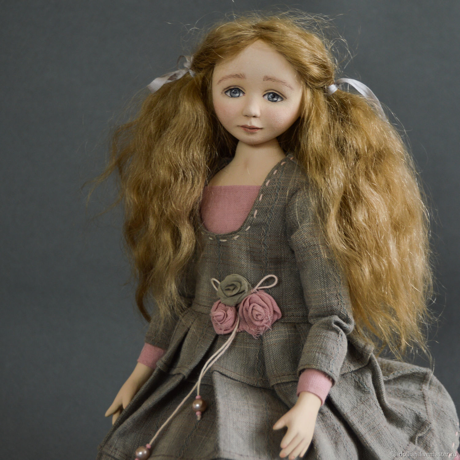 Author's collectible interior doll Kristina, Boudoir doll, St. Petersburg,  Фото №1
