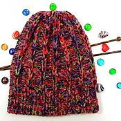 Аксессуары handmade. Livemaster - original item Knitted warm hat colorful pumpkin hat. Handmade.