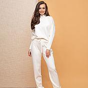 Одежда handmade. Livemaster - original item White tracksuit for women. Handmade.