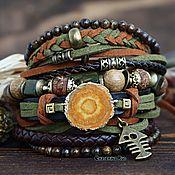 Украшения handmade. Livemaster - original item BOHO style suede bracelet