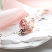 Украшения ручной работы. Ярмарка Мастеров - ручная работа Кулон с нежной розой. Handmade.