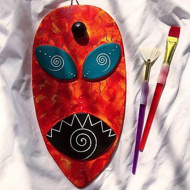 Для дома и интерьера ручной работы. Ярмарка Мастеров - ручная работа Настенная интерьерная маска, ручной работы.. Handmade.