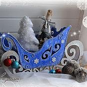 Подарки к праздникам ручной работы. Ярмарка Мастеров - ручная работа Волшебные сани. Handmade.