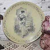 """Посуда ручной работы. Ярмарка Мастеров - ручная работа Настенная тарелка """" Очарование """". Handmade."""