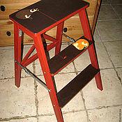 """Для дома и интерьера ручной работы. Ярмарка Мастеров - ручная работа Лесенка-табурет """"Кошки-мышки"""". Handmade."""