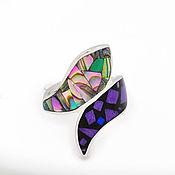 Украшения handmade. Livemaster - original item Ring snake. Charoite, Mother Of Pearl, Malachite. Size 17.Natural stone. Handmade.