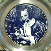 Предметы интерьера винтажные ручной работы. Ярмарка Мастеров - ручная работа Голландская тарелка настенная, антикварная. Handmade.