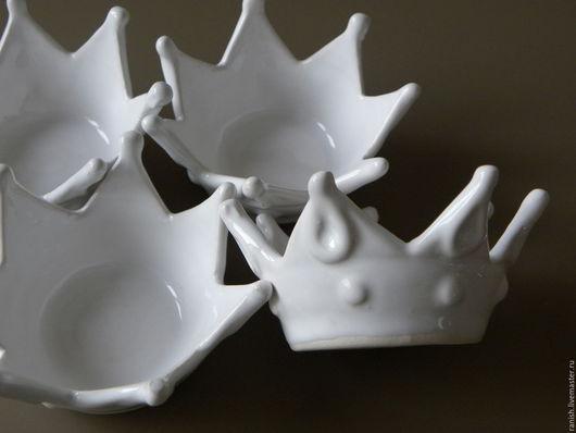 """Пиалы ручной работы. Ярмарка Мастеров - ручная работа. Купить Икорница """"Корона"""". Handmade. Белый, икорница, глина"""