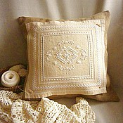Для дома и интерьера handmade. Livemaster - original item Cushion cover/Pillow case on pillow. Hardanger. len. Handmade.