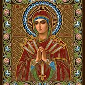 Материалы для творчества handmade. Livemaster - original item The scheme for embroidery: Mother Of God