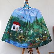 Одежда детская handmade. Livemaster - original item Felted skirt In the birch edge. Handmade.