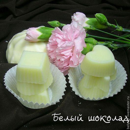 Масла и смеси ручной работы. Ярмарка Мастеров - ручная работа. Купить Гидрофильные плитки для тела «Белый шоколад». Handmade. Белый