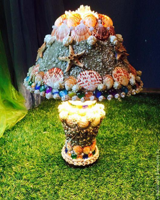 """Освещение ручной работы. Ярмарка Мастеров - ручная работа. Купить Лампа """"Морская звезда"""". Handmade. Комбинированный, жемчуг, квартира, лак"""