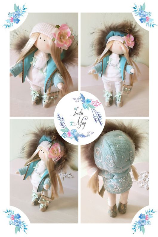 """Куклы тыквоголовки ручной работы. Ярмарка Мастеров - ручная работа. Купить Куколка модница """"Dior"""". Handmade. Ручная работа"""