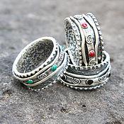 Украшения handmade. Livemaster - original item Boho spinner ring made of 925 sterling silver GA0057. Handmade.