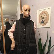 Куртки ручной работы. Ярмарка Мастеров - ручная работа Длинный жилет. Handmade.