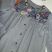 """Одежда ручной работы. Ярмарка Мастеров - ручная работа Платье-рубашка  для девочки хлопок """"Все чудесатее и чудесатее"""". Handmade."""