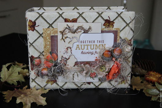 Фотоальбомы ручной работы. Ярмарка Мастеров - ручная работа. Купить Осенний альбом. Handmade. Рыжий, коричневый, яркий, качественный, Скрапбумага