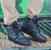 Обувь ручной работы handmade. Livemaster - original item Copy of Copy of Copy of Boots Loafers black full grain leather. Handmade.