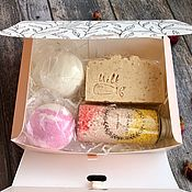 Мыло ручной работы. Ярмарка Мастеров - ручная работа Подарочный набор (Мыло ручной работы, жемчуг, бомбочка для ванны). Handmade.
