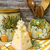 Сувениры и подарки handmade. Livemaster - original item Cheese candle festive table decor. Handmade.