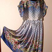 Одежда ручной работы. Ярмарка Мастеров - ручная работа Платье шелковое отрезное по талии. Handmade.