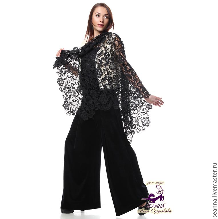 Женские брюки из бархата