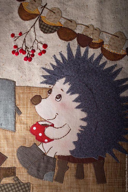 """Текстиль, ковры ручной работы. Ярмарка Мастеров - ручная работа. Купить Панно на стену """"Ёжик"""". Handmade. Для детской комнаты"""