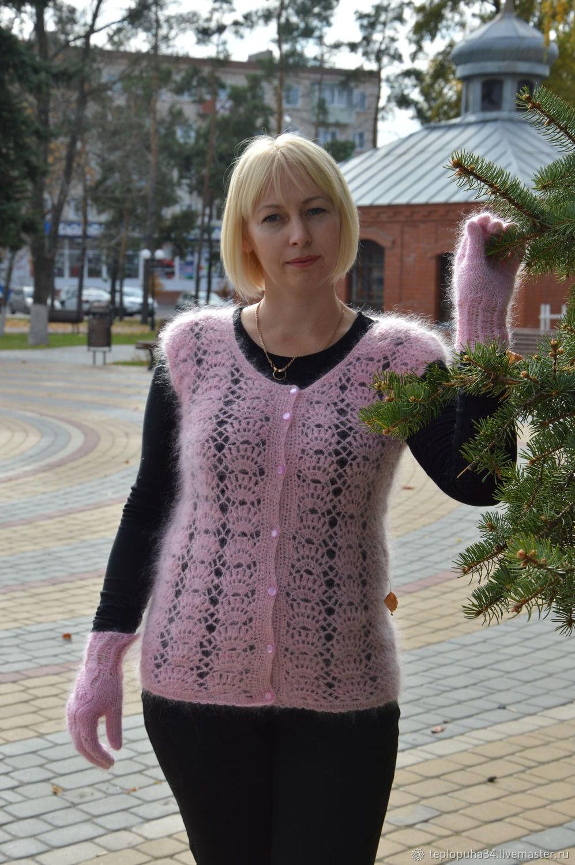 Жилет Ажурный пуховый женский, Кардиганы, Урюпинск, Фото №1