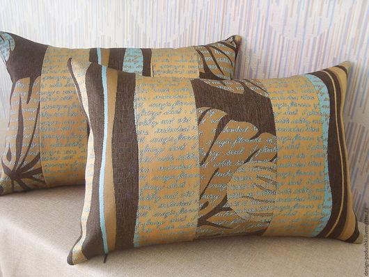 Текстиль, ковры ручной работы. Ярмарка Мастеров - ручная работа. Купить Декоративные подушки. Handmade. Оригинальный подарок, печворк, холофайбер