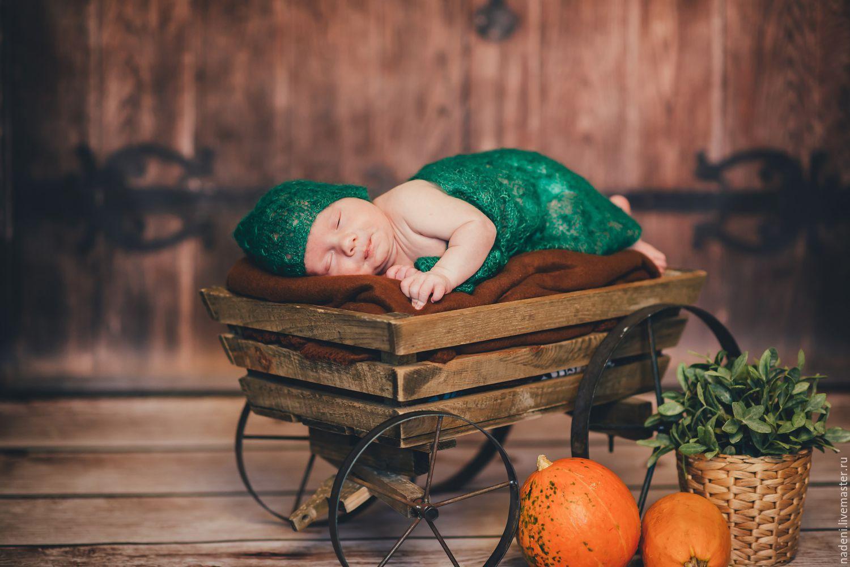 Плед для фотосессии новорожденных, Реквизит для детской фотосессии, Барнаул,  Фото №1