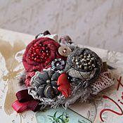 Украшения ручной работы. Ярмарка Мастеров - ручная работа Брошь текстильная. Handmade.