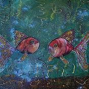 Картины и панно ручной работы. Ярмарка Мастеров - ручная работа Рыбки. Handmade.