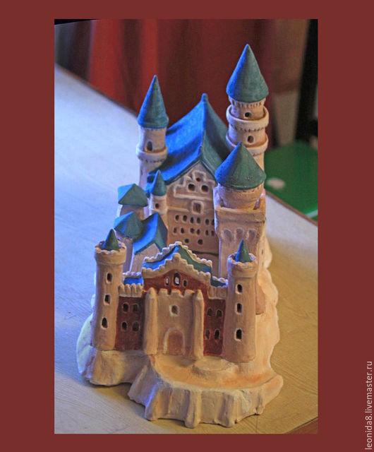 Подсвечники ручной работы. Ярмарка Мастеров - ручная работа. Купить Замок. Керамический светильник.. Handmade. Комбинированный, светильник, Керамика