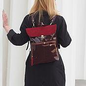Сумки и аксессуары handmade. Livemaster - original item Copy of Copy of Copy of Amed Leather backpack Vinous. Handmade.