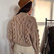 Одежда handmade. Livemaster - original item Cardigan: Voluminous short cardigan with a large oversize pattern. Handmade.
