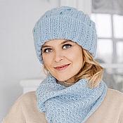 Аксессуары handmade. Livemaster - original item Mohair hat and long scarf
