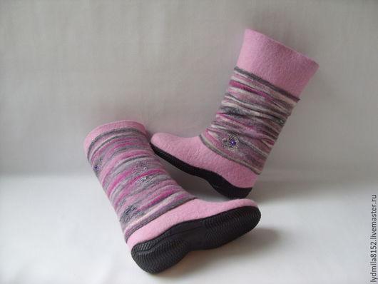 """Обувь ручной работы. Ярмарка Мастеров - ручная работа. Купить Сапоги валяные """"Аметистовый путь"""". Handmade. Обувь ручной работы"""