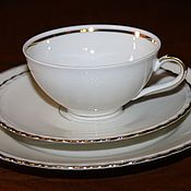 Винтаж handmade. Livemaster - original item Tea three classic white, Winterling, Germany, 1950. Handmade.
