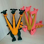 Мягкие игрушки ручной работы. Ярмарка Мастеров - ручная работа Змей Горыныч Дракон. Handmade.