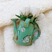 Украшения handmade. Livemaster - original item Brooch made of polymer clay Bouquet for a sweet 2. Handmade.