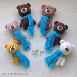 *Knitted Story* *вязаные мишки* - Ярмарка Мастеров - ручная работа, handmade
