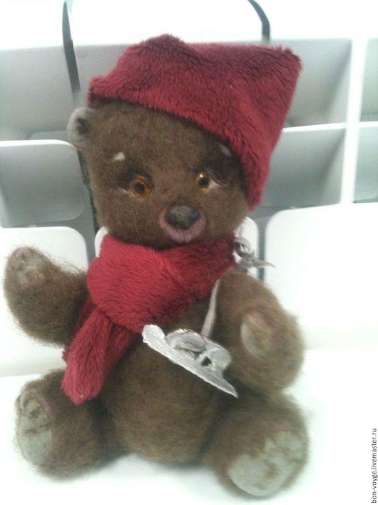 """Мишки Тедди ручной работы. Ярмарка Мастеров - ручная работа. Купить Игрушка-мишка из ткани и шерсти """"Степа -конькобежец"""". Handmade."""