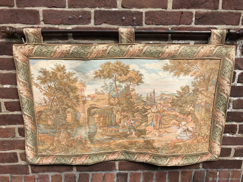 Tapestry 'Pastoral scene', handmade, France, Vintage interior, Arnhem,  Фото №1