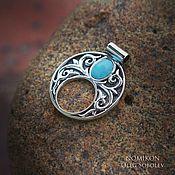 Украшения handmade. Livemaster - original item Moonstone with turquoise. Handmade.