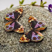 Украшения ручной работы. Ярмарка Мастеров - ручная работа Серьги Бабочки разноцветные. Handmade.