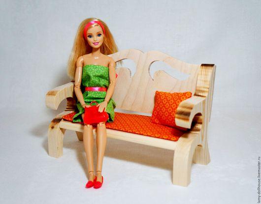 Кукольный дом ручной работы. Ярмарка Мастеров - ручная работа. Купить Диван для куклы. Handmade. Комбинированный, диван для барби
