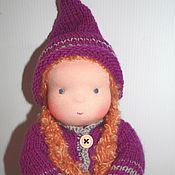 Куклы и игрушки ручной работы. Ярмарка Мастеров - ручная работа Куколка в пришивном комбинезоне 32 см. Handmade.