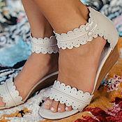 Обувь ручной работы. Ярмарка Мастеров - ручная работа Magdalena. Босоножки на танкетке, в стиле бохо.. Handmade.