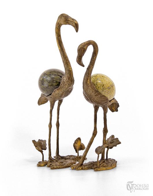 Статуэтки ручной работы. Ярмарка Мастеров - ручная работа. Купить Фламинго. Handmade. Фламинго, статуэтка, статуэтки из металла, скульптурная миниатюра